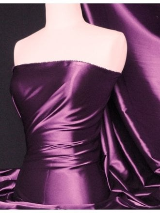 Fluid Super Soft Satin Stretch Fabric- Purple Q855 PPL