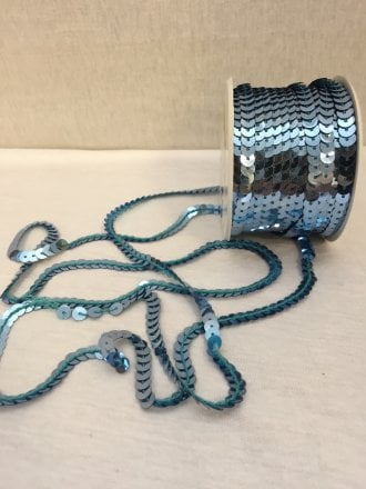 3 Metres Sequin String Trimming- Mid Blue SY61 MDBL