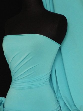 Micro Lycra 4 Way Stretch Fabric - Minty Blue Q259 MNTBL