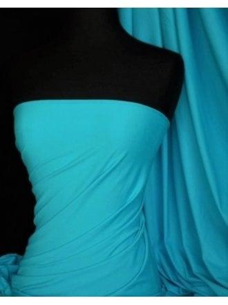 Tactel 4 Way Stretch Jersey Lycra Fabric- Light Turquoise 36TK LTTQ