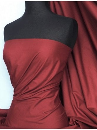 Poly Cotton Material- Maroon Q460 MRN