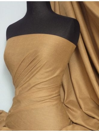 Poly Cotton Material- Camel Q460 CML