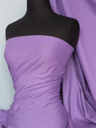 Poly Cotton Material- Dark Lilac Q460 DLLC