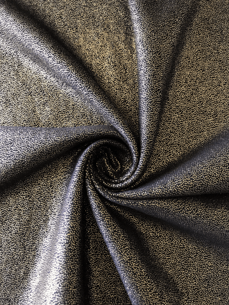Soft Touch Fog Foil Stretch Fabric- Black/Gold SQ260 BKGLD