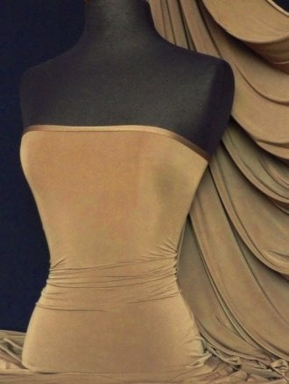 Silk Touch 4 Way Stretch Lycra Fabric- Dark Mocha Q53 DKMCH