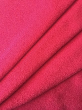 Clearance (187 cms) Non-Anti Pill Polar Fleece Stretch Sports Fabric- Red PF3 RD