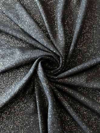 Soft Touch Glitter Stretch Fabric- Black/Multi SQ260 BKMLT