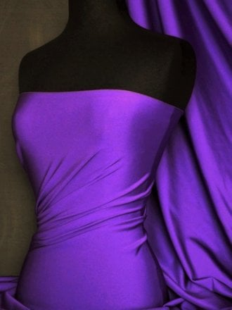 Shiny Lycra 4 Way Stretch Material- Purple Passion Q54 PPLP