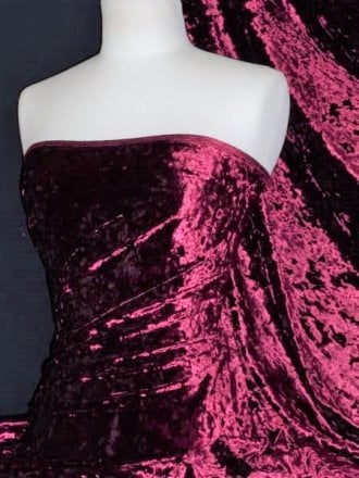 Marble Texture Velvet Lycra 4 Way Stretch Fabric- Wine Q172 WN