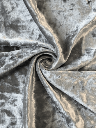 Marble Texture Velvet Lycra 4 Way Stretch Fabric- Cloud Grey Q172 CGR