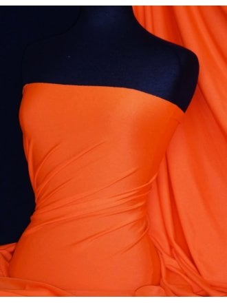 Shiny Lycra 4 Way Stretch  Material - Orange Q54 OR