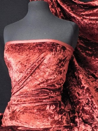 Crushed Glitz Velour/Velvet Woven Interior Fabric- Wine SQ269 WN