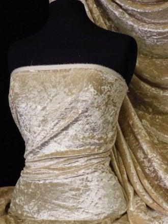 Crushed Glitz Velour/Velvet Woven Interior Fabric- Champagne SQ269 CHAMP