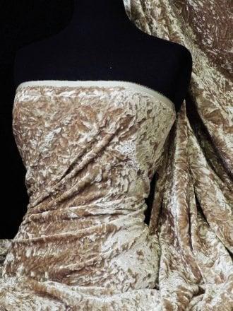 Crushed Glitz Velour/Velvet Woven Interior Fabric- Mocha SQ269 MCH
