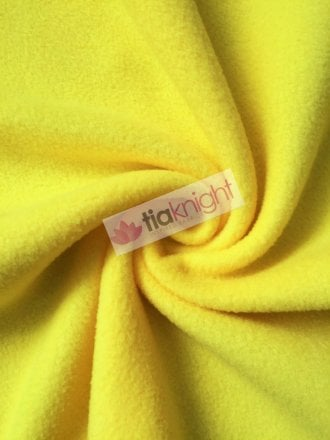 Anti-Pill Polar Fleece Soft Cuddly Washable Fabric- Yellow PF-NEW YL