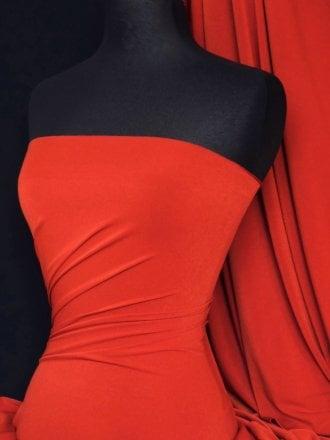 Micro Lycra 4 Way Stretch Fabric - Tomato Red Q259 TRD