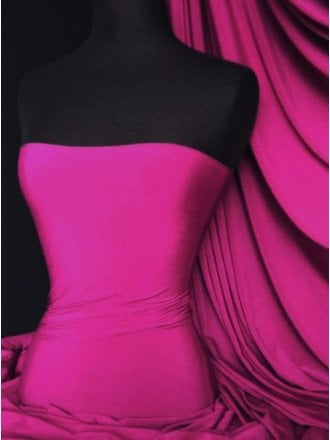 Soft Touch 4 Way Stretch Lycra Fabric- Fuchsia Q36 FCH