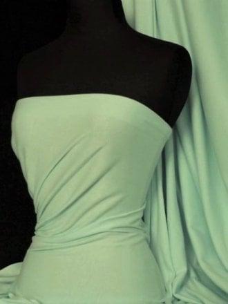 Soft Fine Rib 100% Cotton Knit Material - Soft Mint Q61 SMNT