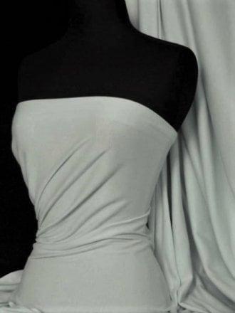 Soft Fine Rib 100% Cotton Knit Material- Cloud Grey Q61 CGR