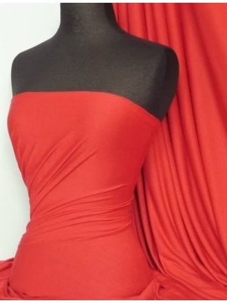 Single Jersey Knit 100% Light Cotton T-Shirt Fabric- Bright Red Q1249 BRD
