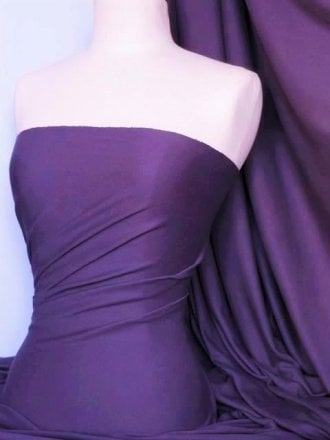 Soft Fine Rib 100% Cotton Knit Material - Purple Q61 PPL