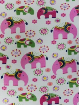 Polar Fleece Anti Pill Washable Soft Fabric- Raja Elephant PF228 PN