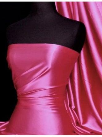 Satin Fabric Material- Cerise Q449 CRS