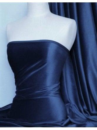 Steam Velvet Stretch Fabric- Navy Blue SV157 NYBL