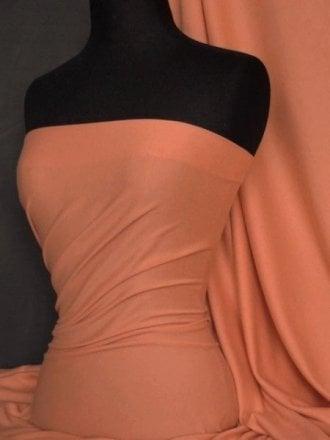 Soft Fine Rib 100% Cotton Knit Material - Burnt Orange Q61 BNOR