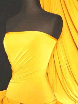 Silk Touch 4 Way Stretch Lycra Fabric- Sunflower Yellow Q53 SYL