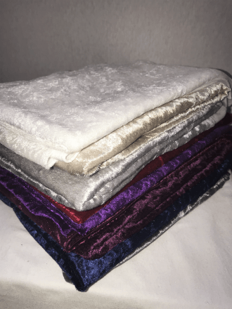 10 PIECES Clearance (1/2 Metre) Crushed Velvet/Velour Stretch Material Job Lot Pieces- Multi JBL108