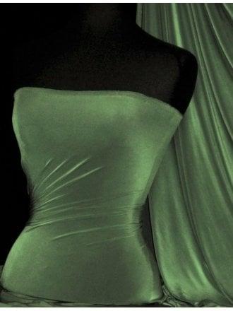 Clearance Silk Touch 4 Way Stretch Lycra Fabric- Dark Khaki SQ110 DKH