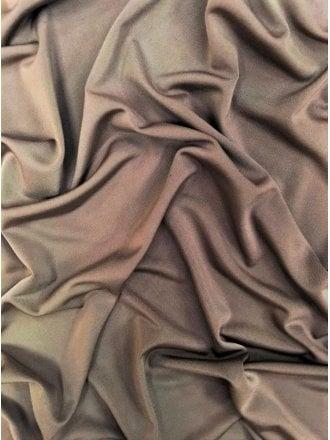 Clearance Silk Touch 4 Way Stretch Lycra Fabric- Mocha SQ110 MCH