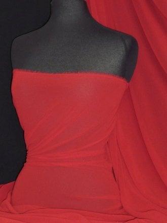 Crinkle Sheer Chiffon Material- Deep Red Q795 DPRD