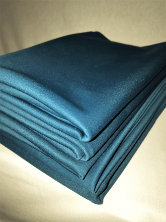 5 PIECES Clearance (1/2 Metre) Scuba Stretch Poly Lycra Fabric Job Lot Bundle- Teal JBL120 TL