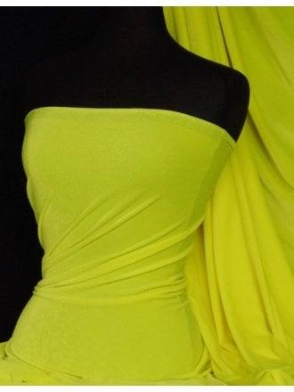 Velvet /Velour 4 Way Stretch Spandex Lycra- Flo Yellow Q559 FLYL