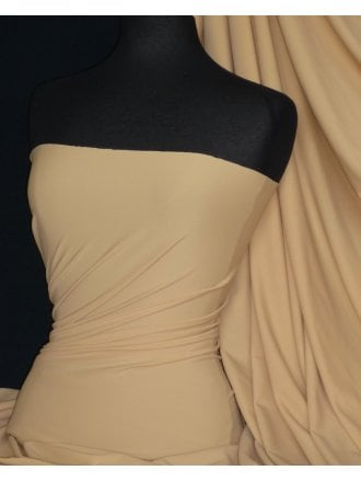 Matt Lycra 4 Way Stretch Fabric- Beige Q56 BGE