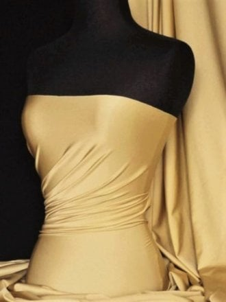 Shiny Lycra 4 Way Stretch Material- Champagne Q54 CHAMP