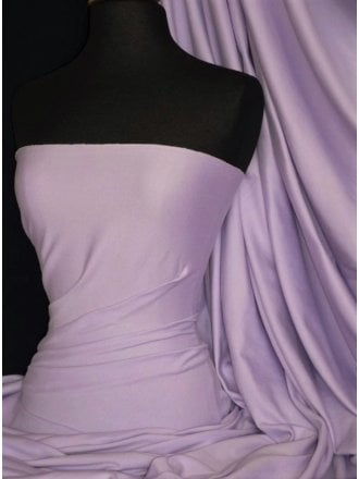 Soft Fine Rib 100% Cotton Knit Material- Lilac Q61 LIL