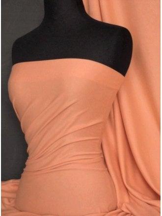 Soft Fine Rib 100% Cotton Knit Material - Peach Q61 PCH