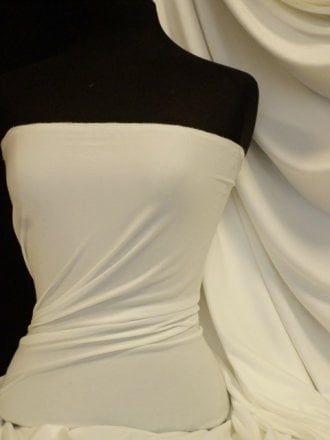 Enya Crepe 4 Way Stretch Jersey Fabric- Ivory Q1169 IV