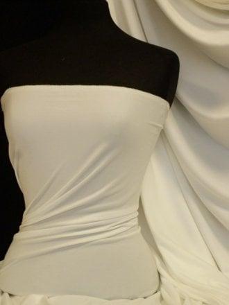 Enya Crepe 4 Way Stretch Jersey Fabric- Ivory Q1169 IV