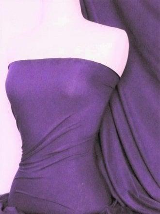 Viscose Cotton Stretch Lycra Fabric- Light Purple Q300 LTPPL