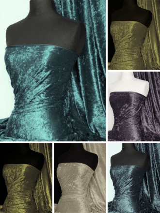 NEW Crushed Velvet/Velour Stretch Material- Q156X