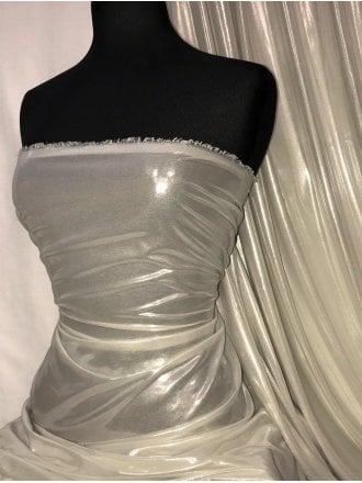 Liquid H20 Lamé Gloss Woven Fabric- Silver SQ318 SLV