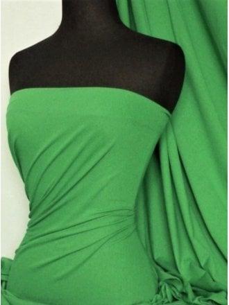 Clearance 100% Cotton Interlock Knit Soft Jersey T-Shirt Fabric- Parrot Green SQ175 PTGR