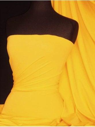 6 1/2 METRES Clearance Matt Lycra 4 Way Stretch Fabric Job Lot Bolt- Mid Yellow JBL158 MDYL