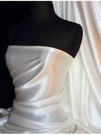 Super Soft Satin Fabric- Ivory Q710 IV