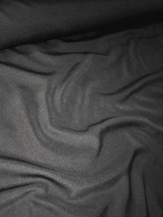 15 METRES Polyester Woven Light Weight Blouse Fabric Job Lot Bolt- Black JBL161 BK