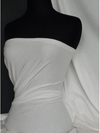 Cotton Lycra Jersey 4 Way Stretch Fabric- Ivory Q35 IV